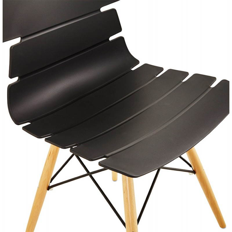 chaise originale style scandinave cony noir. Black Bedroom Furniture Sets. Home Design Ideas