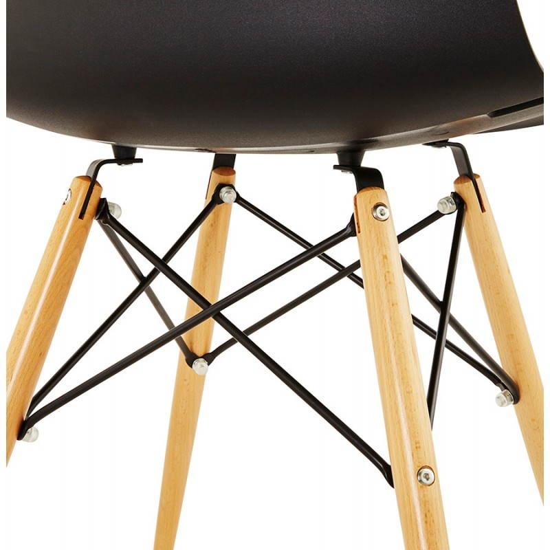 Chaise originale style scandinave CONY (noir) - image 22754