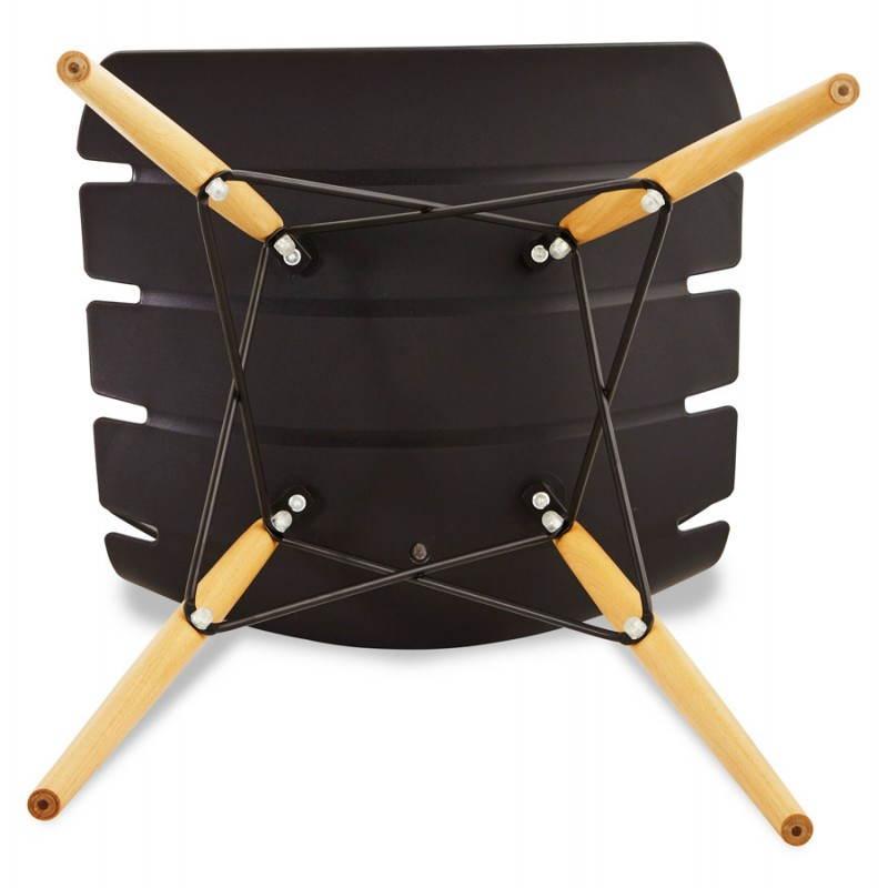 Chaise originale style scandinave CONY (noir) - image 22759