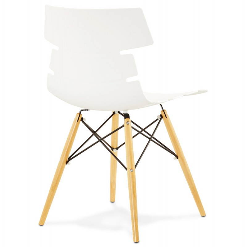 Chaise originale style scandinave CONY (blanc) - image 22766