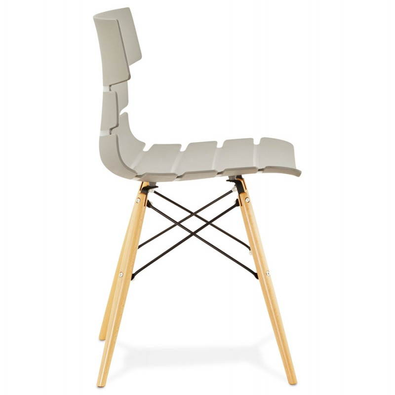 Chaise originale style scandinave CONY (gris) - image 22780