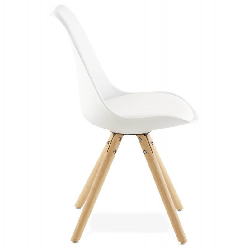 Chaise moderne style scandinave NORDICA (blanc) - image 22795
