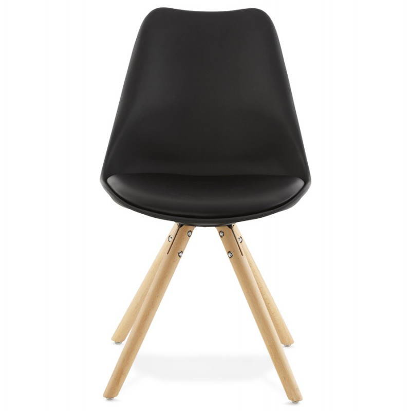 Chaise moderne style scandinave NORDICA (noir) - image 22808