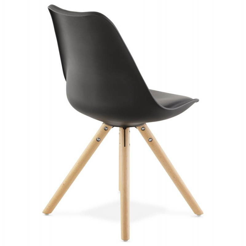 Chaise moderne style scandinave NORDICA (noir) - image 22810
