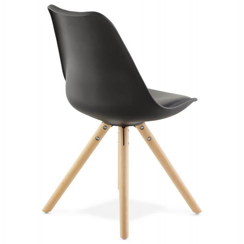 Estilo moderno de la silla NORDICA escandinava (negro) - image 22810
