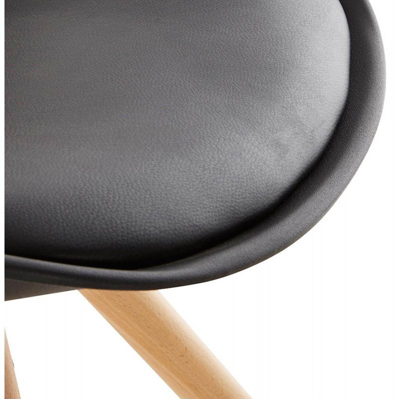 Chaise moderne style scandinave NORDICA (noir) - image 22813