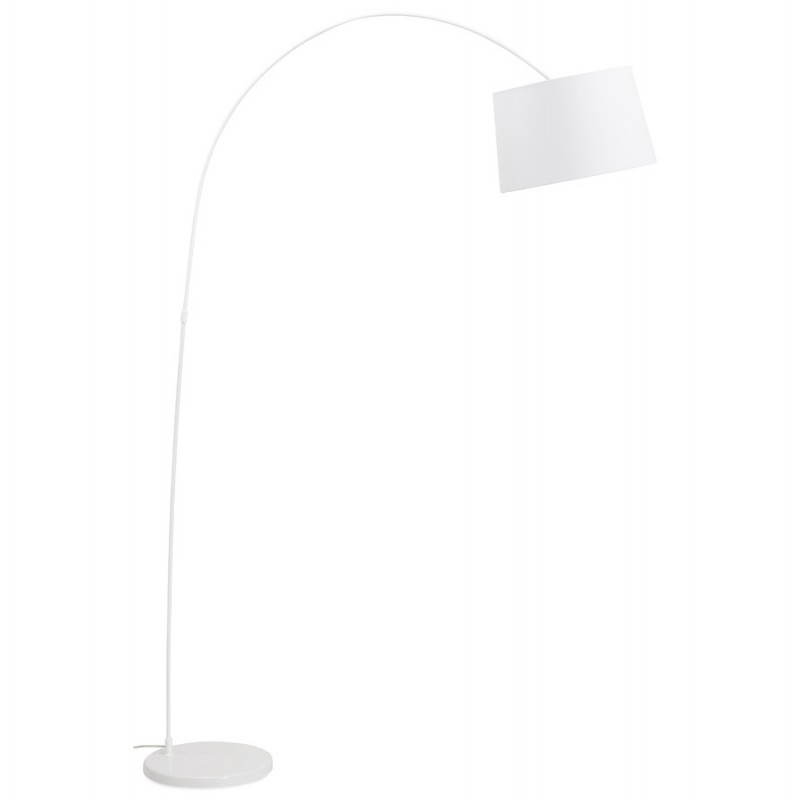 Lampe sur pied design AVERSA tissu (blanc) - image 22898