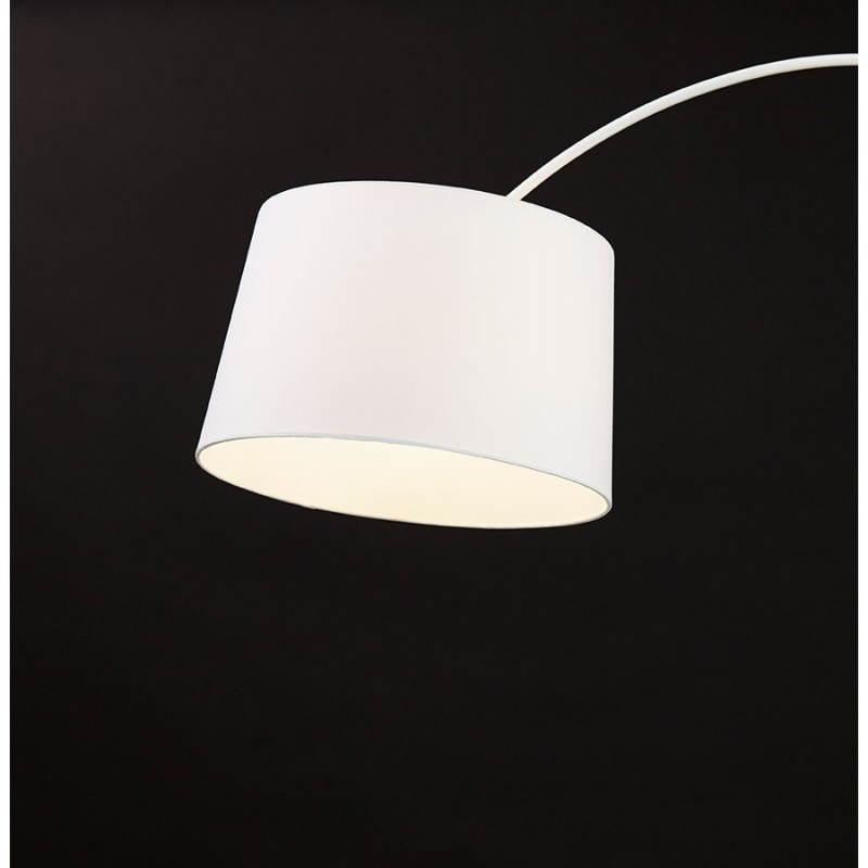 Lampe sur pied design AVERSA tissu (blanc) - image 22922