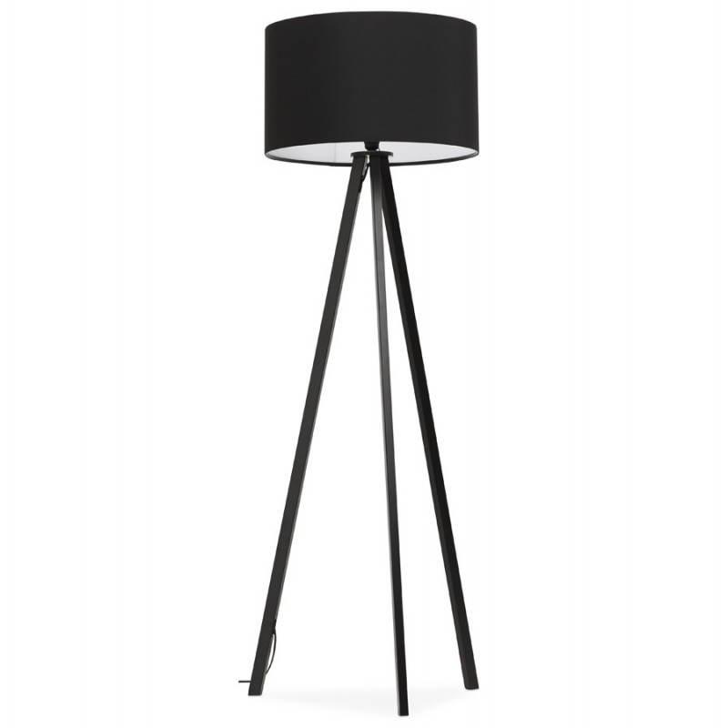Scandinavian style TRANI (black) fabric floor lamp - image 23058