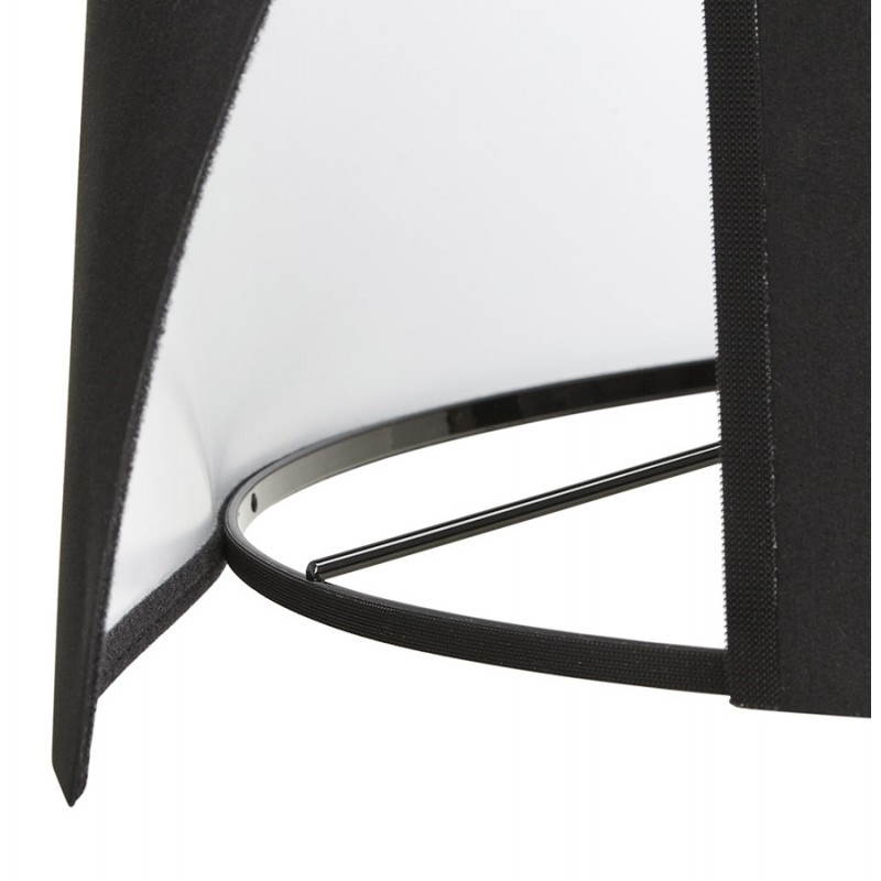Scandinavian style TRANI (black) fabric floor lamp - image 23060