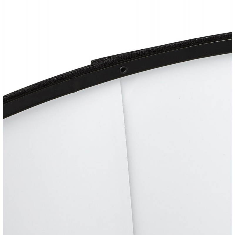 Scandinavian style TRANI (black) fabric floor lamp - image 23062