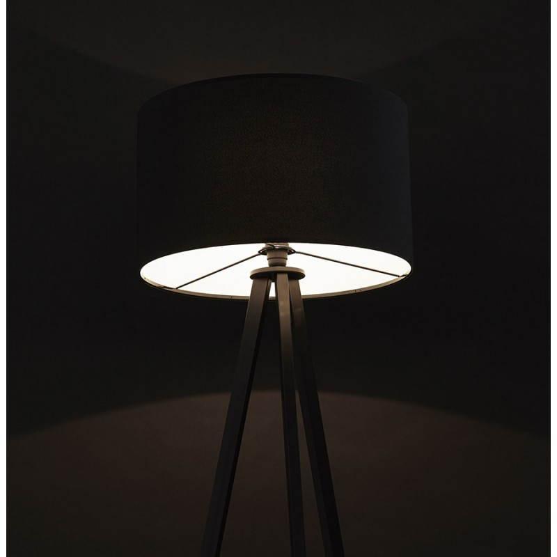 Scandinavian style TRANI (black) fabric floor lamp - image 23070