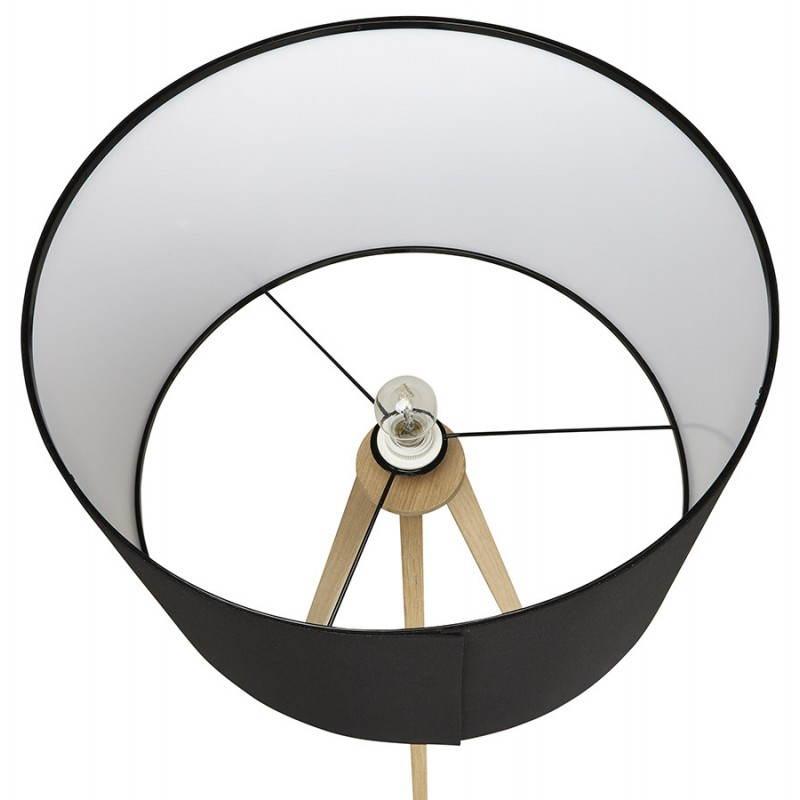 Lampada da terra di tessuto di stile scandinavo TRANI (nero, naturale) - image 23079
