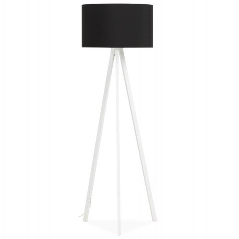 Lamp foot of Scandinavian style TRANI in fabric (black, white) - image 23088