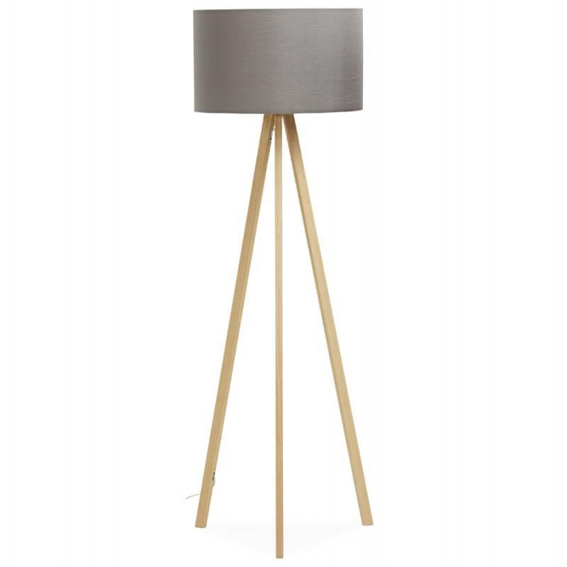 Lampe sur pied de style scandinave TRANI en tissu (gris, naturel) - image 23120