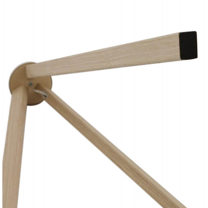 Lampe sur pied de style scandinave TRANI en tissu (gris, naturel) - image 23132