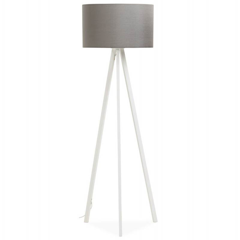 Scandinavian style TRANI in fabric (grey, white) floor lamp - image 23137