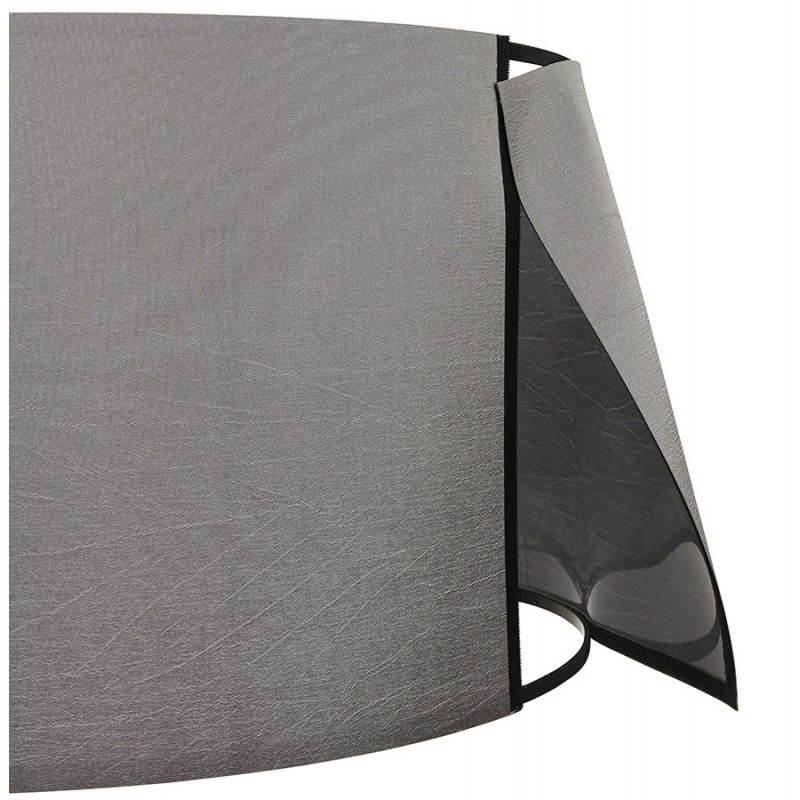 Lampe sur pied de style scandinave TRANI en tissu (gris, blanc) - image 23141