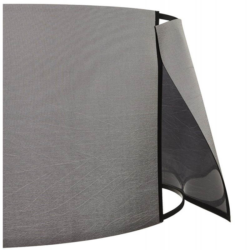 Scandinavian style TRANI in fabric (grey, white) floor lamp - image 23141