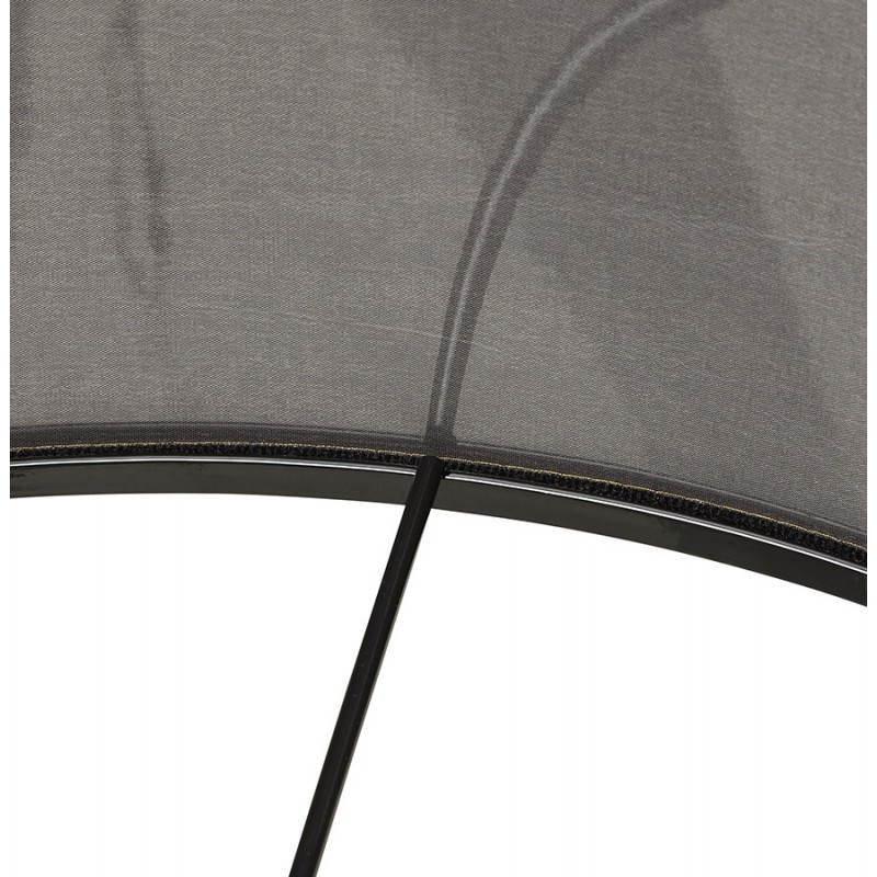 Scandinavian style TRANI in fabric (grey, white) floor lamp - image 23143