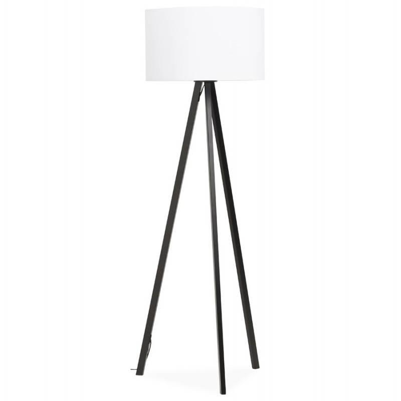 Lampe sur pied de style scandinave TRANI en tissu (blanc, noir) - image 23152