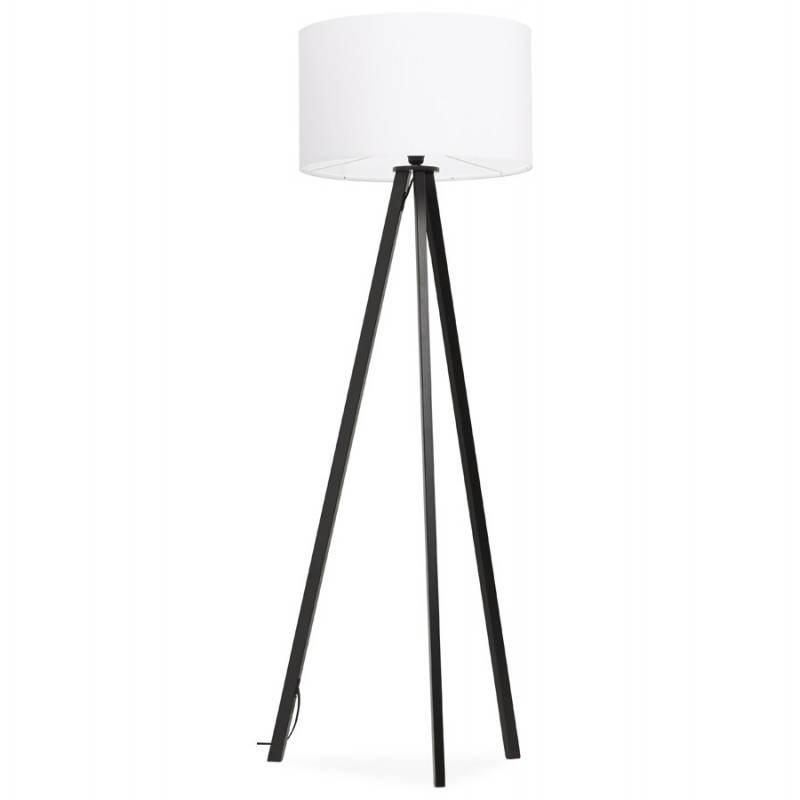 Lampe sur pied de style scandinave TRANI en tissu (blanc, noir) - image 23154