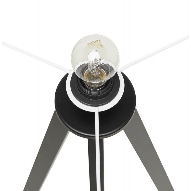 Lampe sur pied de style scandinave TRANI en tissu (blanc, noir) - image 23161
