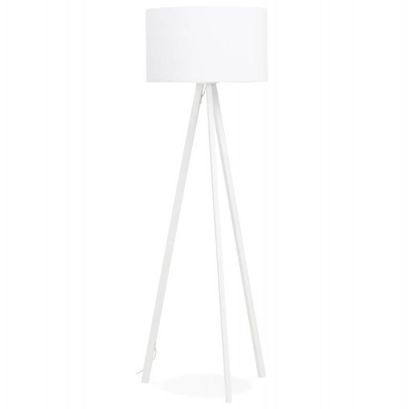 Lampada da terra di tessuto di stile scandinavo TRANI (bianco)