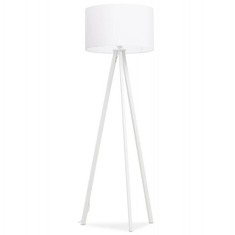 Lampe sur pied de style scandinave TRANI en tissu (blanc) - image 23186