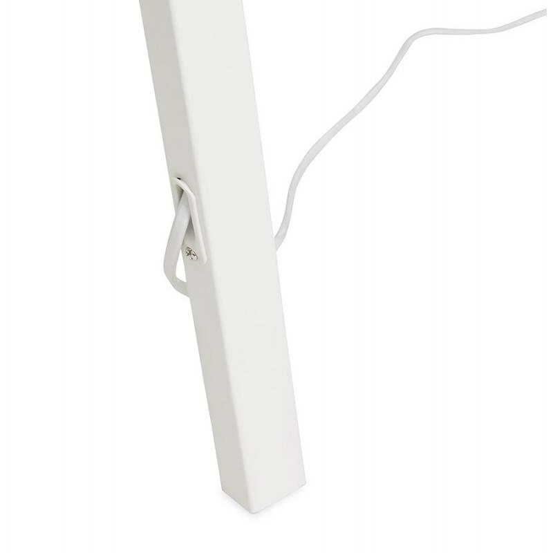 Lampe sur pied de style scandinave TRANI en tissu (blanc) - image 23196