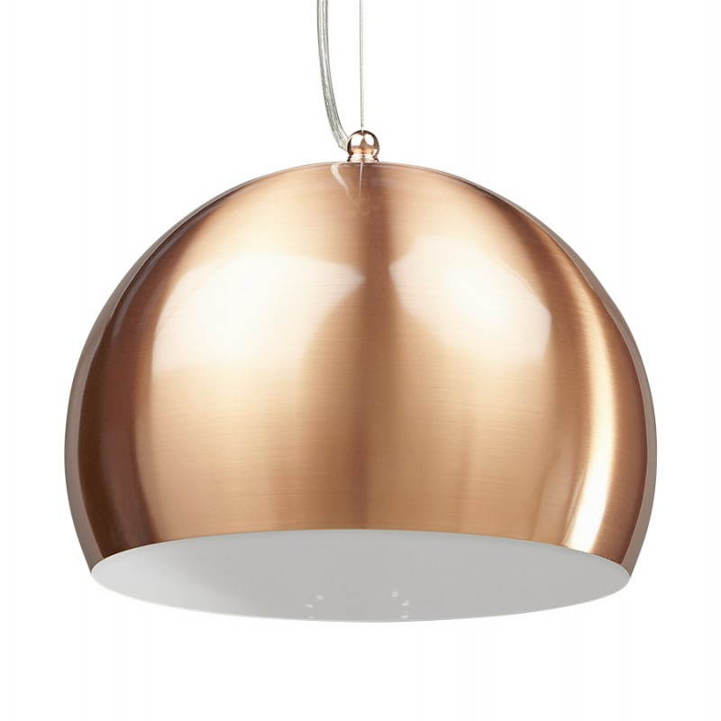 Retro hanging lamp Pavia in metal (copper) - image 23200