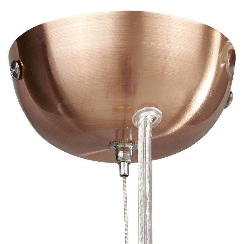 Retro colgante Lámpara Pavía en metal (cobre) - image 23206