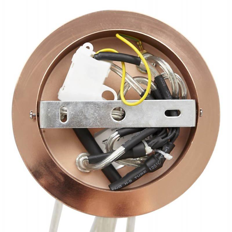 Lampe suspendue rétro 7 boules GELA en métal (cuivre) - image 23218