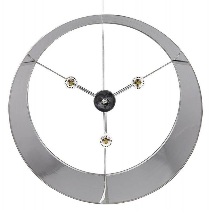 Lampe suspendue forme cylindrique LATIN (chromé) - image 23235