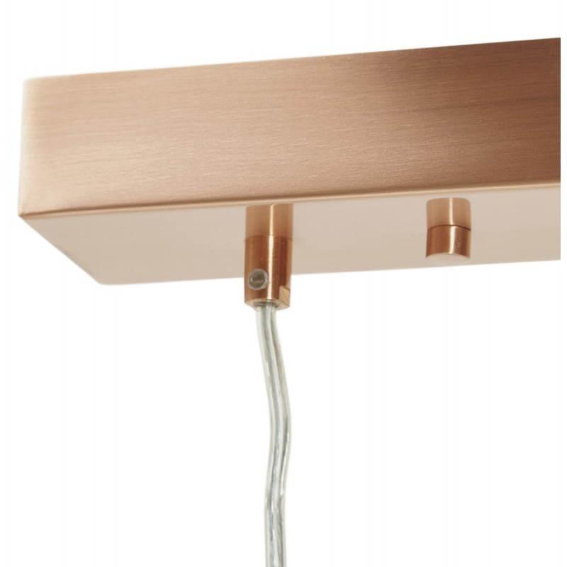 Lampe suspendue rétro 3 boules POUILLES en métal (cuivre) - image 23245