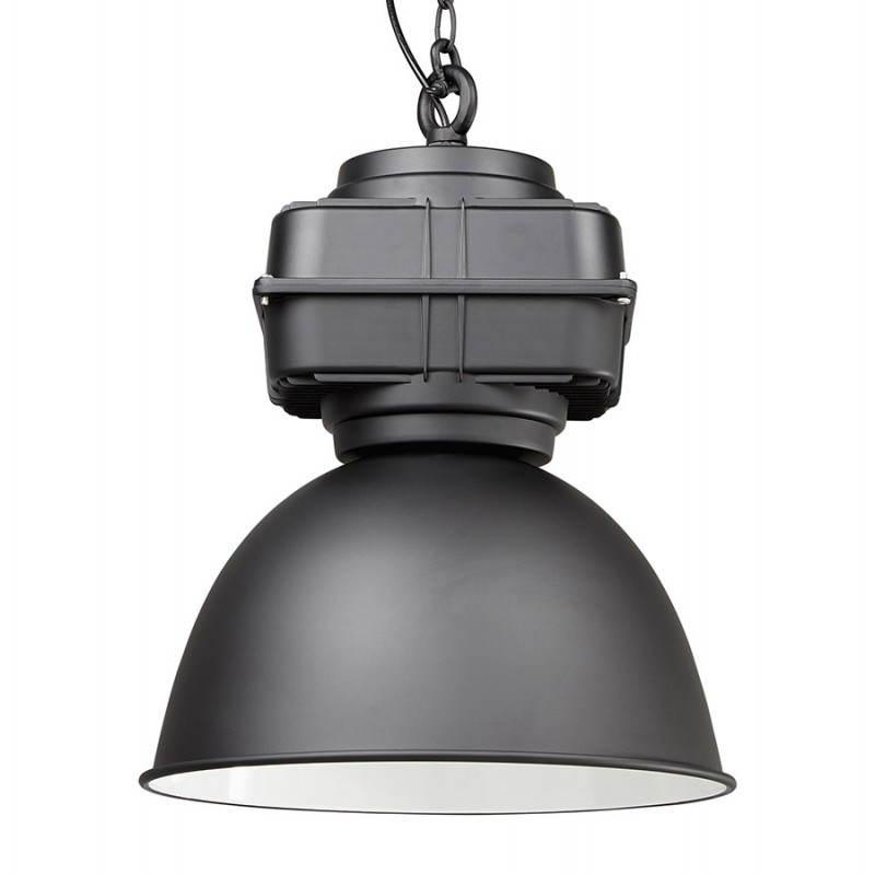 Lampe suspendue industrielle SAVONE en métal (noir mat) - image 23280