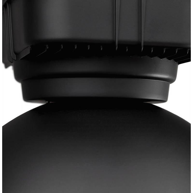 Lampe suspendue industrielle SAVONE en métal (noir mat) - image 23285