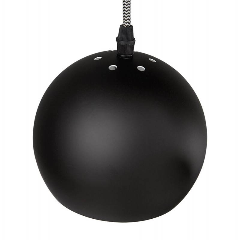 Lampe suspendue industrielle 6 globes MATERA en métal (noir mat) - image 23294
