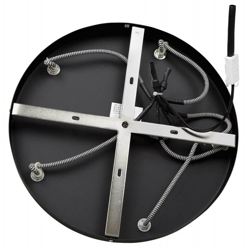 Lampe suspendue industrielle 6 globes MATERA en métal (noir mat) - image 23304