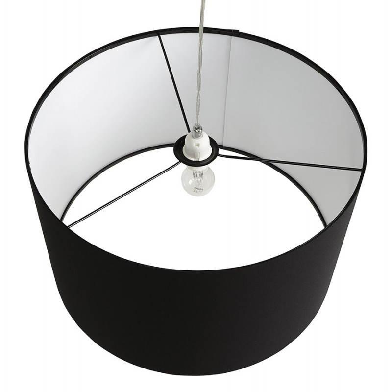 Lampe suspendue LATIUM en tissu (noir) - image 23314