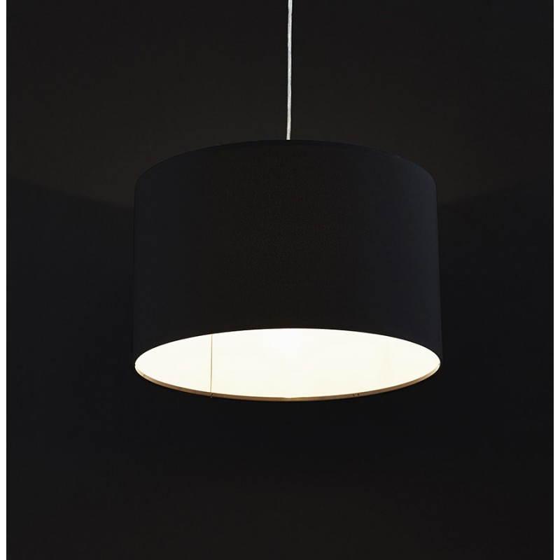 Lampe suspendue LATIUM en tissu (noir) - image 23319