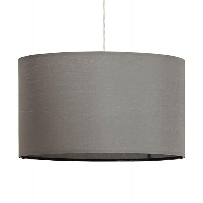 Lampe suspendue LATIUM en tissu (gris) - image 23320