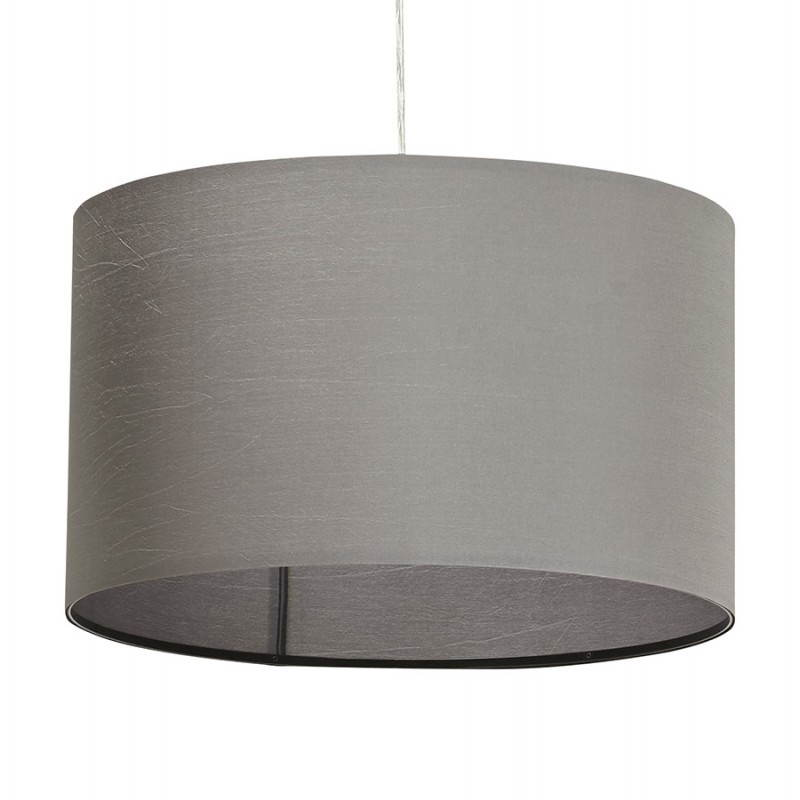 Lampe suspendue LATIUM en tissu (gris) - image 23321