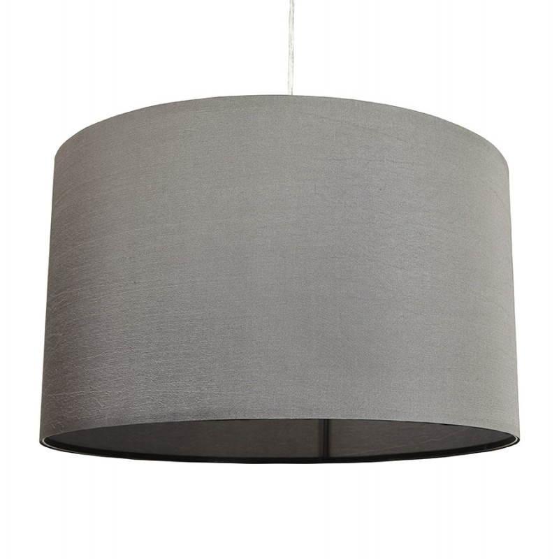 Lampe suspendue LATIUM en tissu (gris) - image 23322