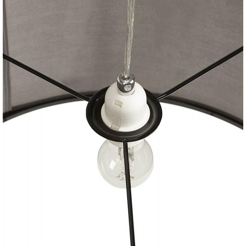 Lampe suspendue LATIUM en tissu (gris) - image 23328