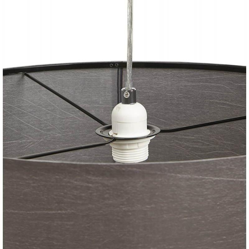 Lampe suspendue LATIUM en tissu (gris) - image 23329