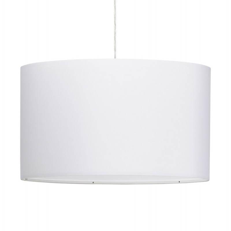 Lampe suspendue LATIUM en tissu (blanc)