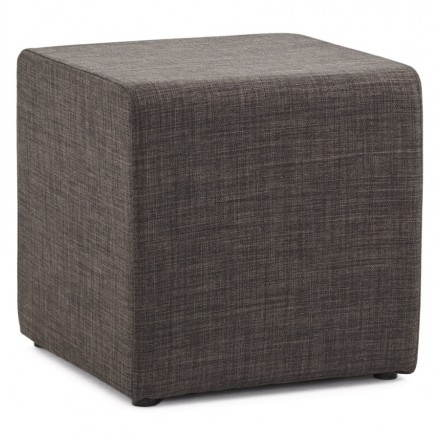Pouffe square FUSIL fabric (dark grey)