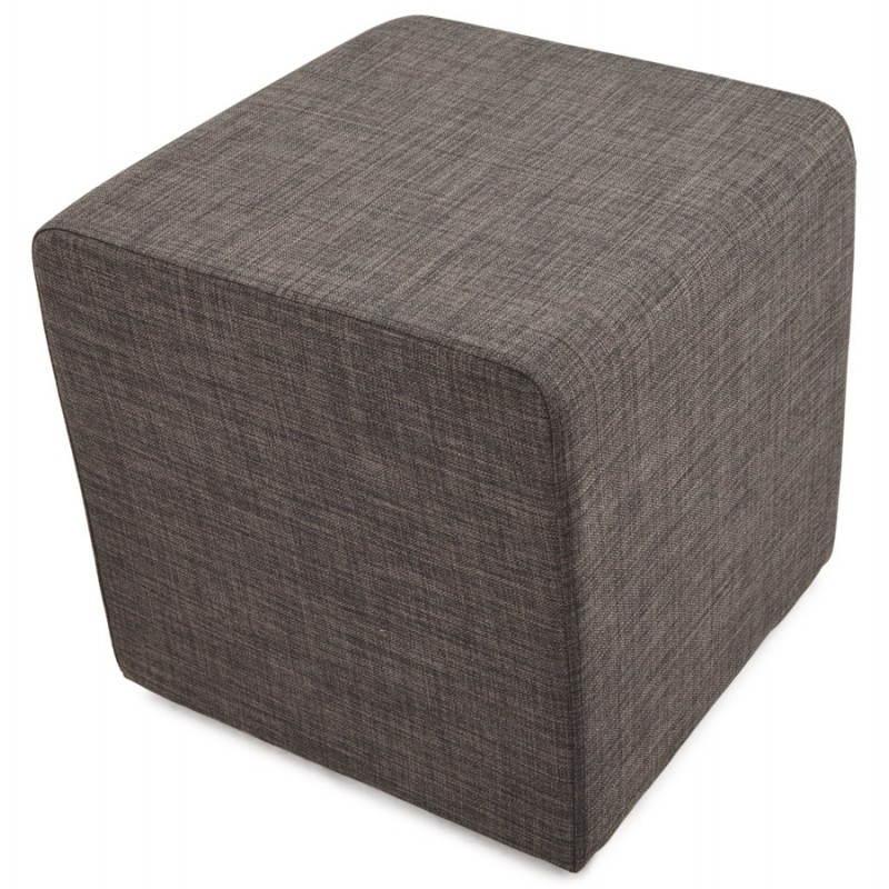 Pouf carré FUSIL en tissu (gris foncé) - image 23353