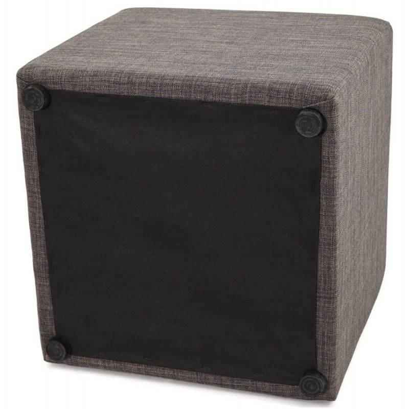 Pouf carré FUSIL en tissu (gris foncé) - image 23358